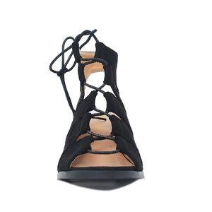 Chase + Chloe Shoes - Black Women's Sling Back Cut Out Heeled Sandal